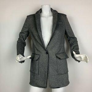 Banana Republic Coat Blazer Jacket Wool Gray Sz 2